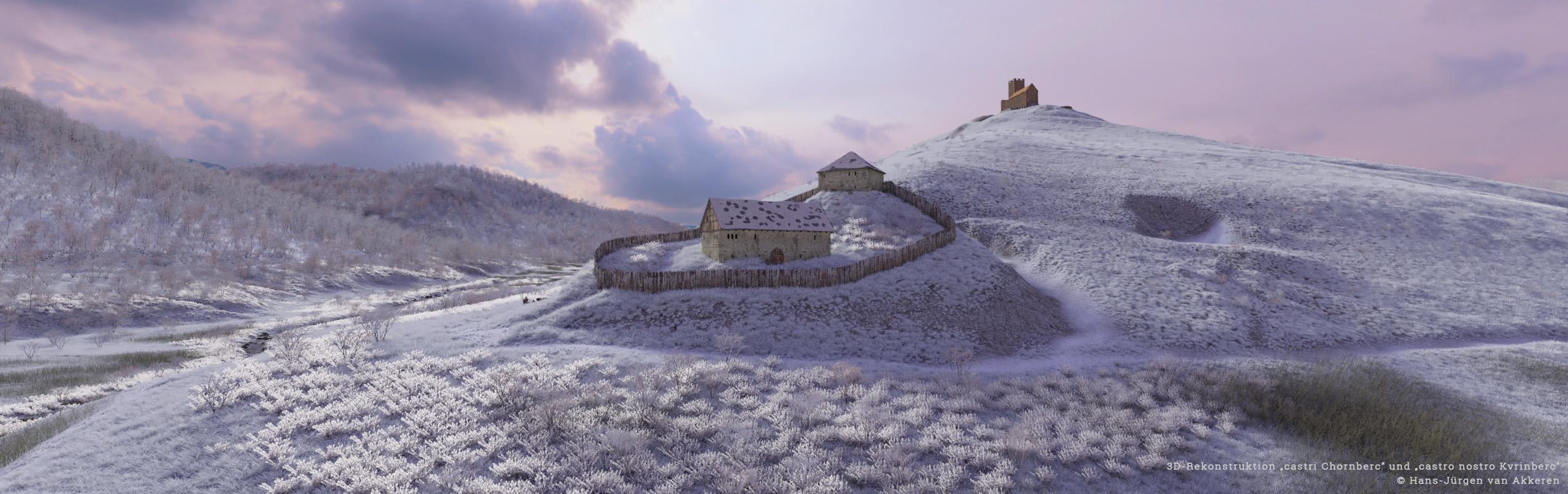 Archäologisch-historische Rekonstruktion des befestigten Kornspeichers Kastenbuck und der Burg Kürnberg
